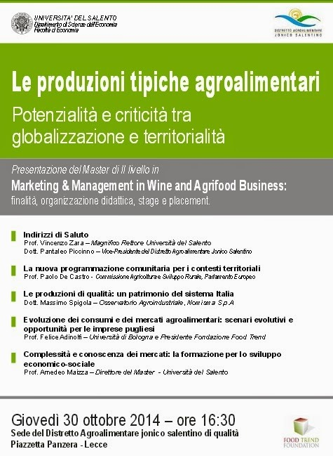 Master in Wine and Agrifood Business