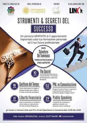 4 appuntamenti per costruire il successo