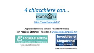 Società benefit - innovazione sociale - homes4all