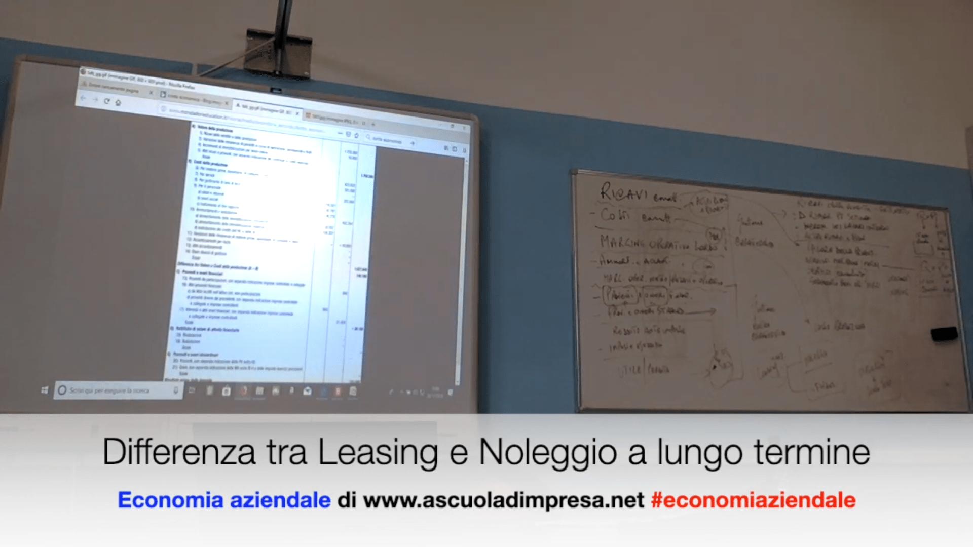 Differenza tra Leasing e Noleggio a lungo termine
